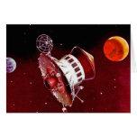 Lander retro 1967 de Sci Fi Marte del vintage Felicitación