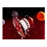 Lander retro 1967 de Sci Fi Marte del vintage Postales