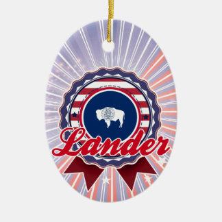 Lander, WY Christmas Ornament
