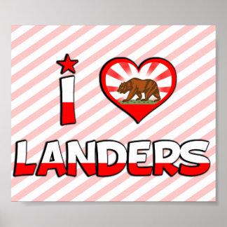 Landers, CA Poster