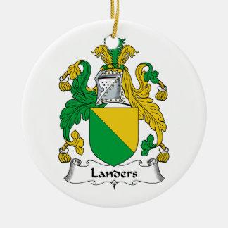 Landers Family Crest Christmas Tree Ornament