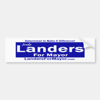 Landers for Mayor Bumper Sticker