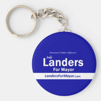 Landers para alcalde Keychain Llavero Redondo Tipo Pin