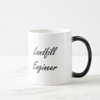 Landfill Engineer Artistic Job Design 11 Oz Magic Heat Color-Changing Coffee Mug