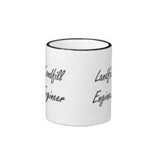 Landfill Engineer Artistic Job Design Ringer Coffee Mug