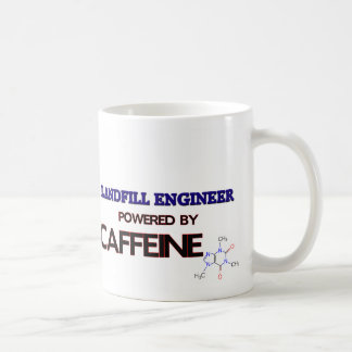 Landfill Engineer Powered by caffeine Classic White Coffee Mug