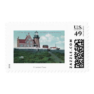 Landhouse View of the South Lighthouse Postage Stamp