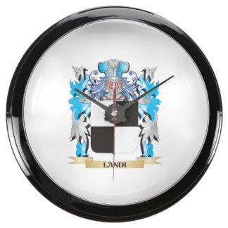 Landi Coat of Arms - Family Crest Aquarium Clock