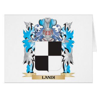 Landi Coat of Arms - Family Crest Large Greeting Card