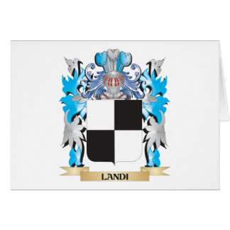 Landi Coat of Arms - Family Crest Stationery Note Card