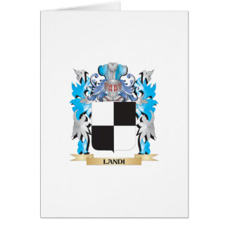Landi Coat of Arms - Family Crest Greeting Card