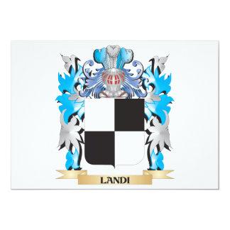 Landi Coat of Arms - Family Crest 5x7 Paper Invitation Card