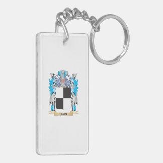 Landi Coat of Arms - Family Crest Double-Sided Rectangular Acrylic Keychain