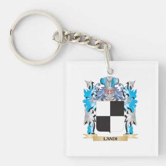 Landi Coat of Arms - Family Crest Single-Sided Square Acrylic Keychain