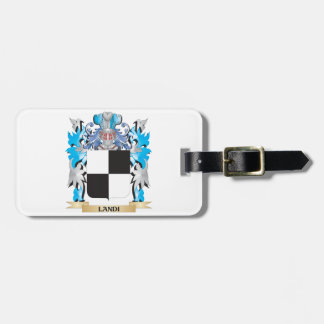 Landi Coat of Arms - Family Crest Luggage Tag