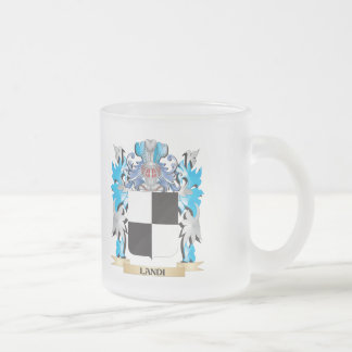 Landi Coat of Arms - Family Crest 10 Oz Frosted Glass Coffee Mug