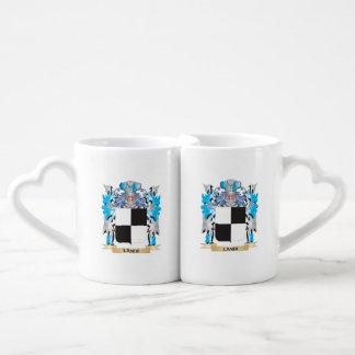 Landi Coat of Arms - Family Crest Couples' Coffee Mug Set