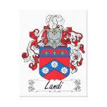 Landi Family Crest Canvas Print