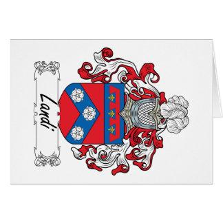 Landi Family Crest Greeting Card