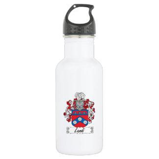 Landi Family Crest 18oz Water Bottle