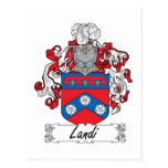 Landi Family Crest Postcard