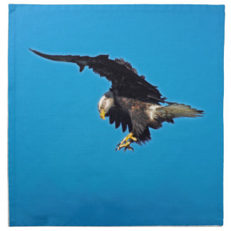 Landing American Bald Eagle Wildlife Photo Cloth Napkin
