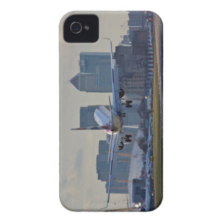 Landing at London City airport iPhone 4 Cases