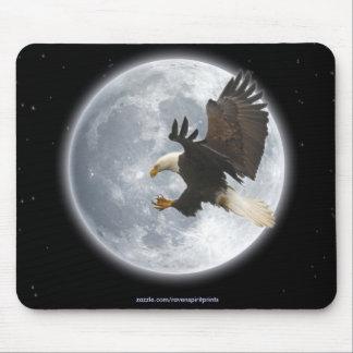 Landing Bald Eagle & Moon Inspirational Mousepad