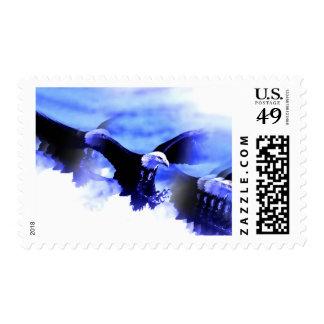 Landing Bald Eagle Postage Stamps