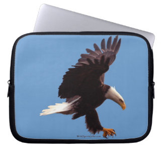 Landing Bald Eagle Wildlife Photo Art Computer Sleeve