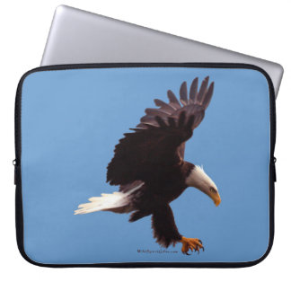 Landing Bald Eagle Wildlife Photo Art Laptop Sleeve