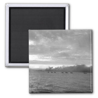 Landing craft loaded with Marines_War Image Magnet