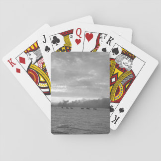 Landing craft loaded with Marines_War Image Playing Cards
