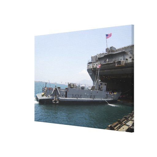 Landing Craft Utility moving into position Canvas Print