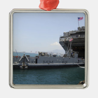 Landing Craft Utility moving into position Metal Ornament