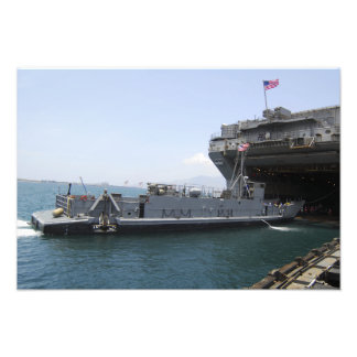 Landing Craft Utility moving into position Photo Print