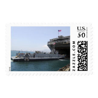 Landing Craft Utility moving into position Postage