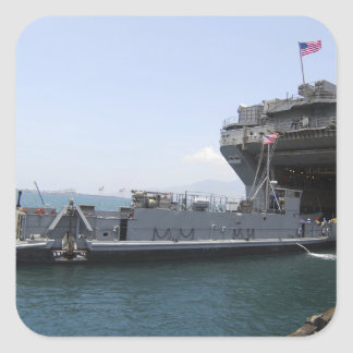 Landing Craft Utility moving into position Square Sticker