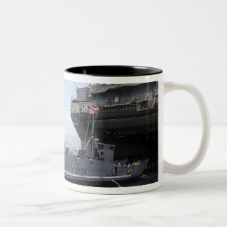 Landing Craft Utility moving into position Two-Tone Coffee Mug