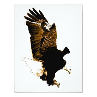 Landing Eagle 4.25x5.5 Paper Invitation Card