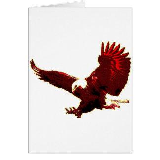 Landing Eagle - Eagle in Flight Card