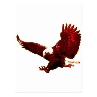 Landing Eagle - Eagle in Flight Postcard
