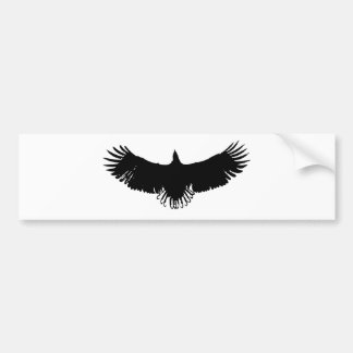 Landing Eagle Silhouette Bumper Stickers