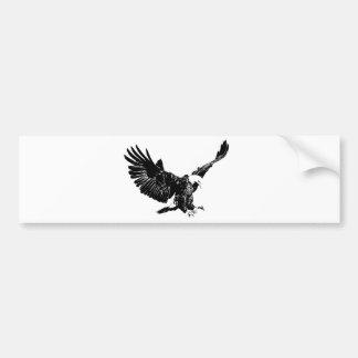 Landing Eagle Silhouette Bumper Sticker