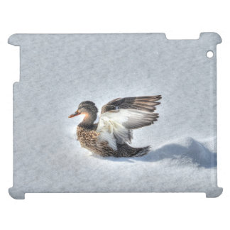 Landing Female Mallard Duck 2 Wildlife Photo Cover For The iPad 2 3 4