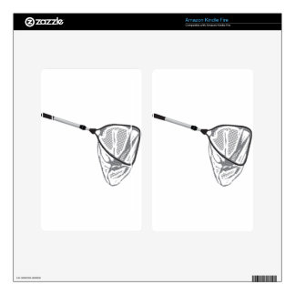 Landing fishing net vector illustration clip-art skin for kindle fire