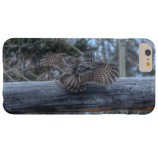 Landing Great Grey Owl and Ranch Gate Pole Barely There iPhone 6 Plus Case