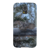 Landing Great Grey Owl and Ranch Gate Pole Galaxy S5 Cover