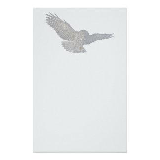 Landing Great Grey Owl Wildife Photo Art Stationery