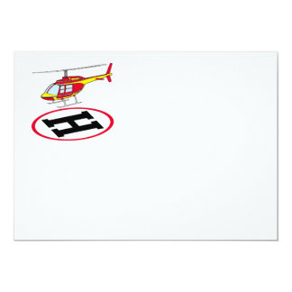 Landing helicopter card